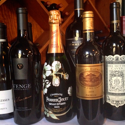 Our Wine Collection @ Chez nous French Restaurant near Houston Intercontinental Airport